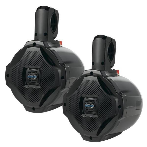 Lanzar AQAWBPR65BK Dual 6.5'' Bluetooth Marine Outdoor Wakeboard Speakers Pair