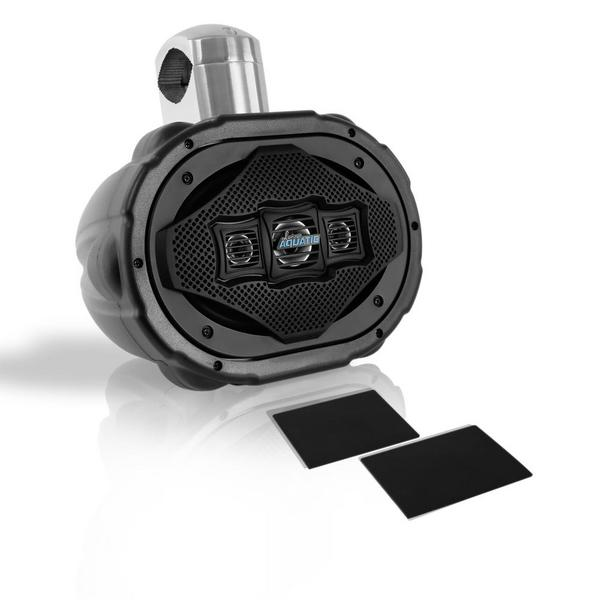 Lanzar AQAWBS69BK 6'' x 9'' Bluetooth Wakeboard Marine Outdoor Speaker Single Thumbnail 3