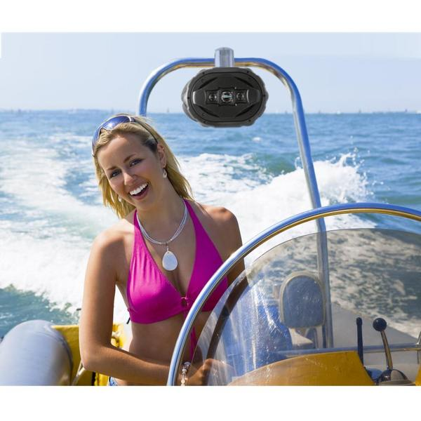 Lanzar AQAWBS69BK 6'' x 9'' Bluetooth Wakeboard Marine Outdoor Speaker Single Thumbnail 5