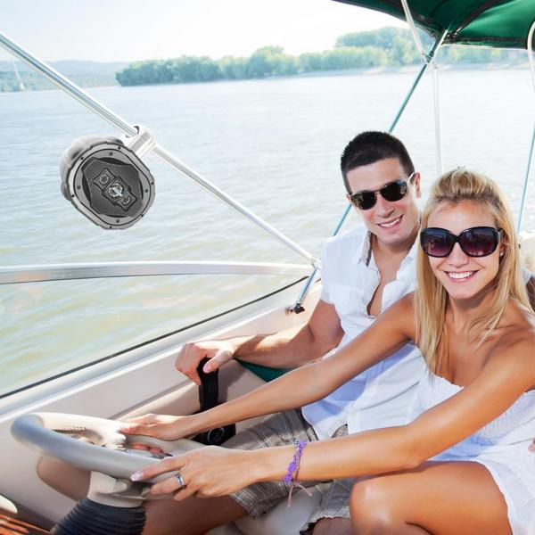 Lanzar AQAWBS69BK 6'' x 9'' Bluetooth Wakeboard Marine Outdoor Speaker Single Thumbnail 6