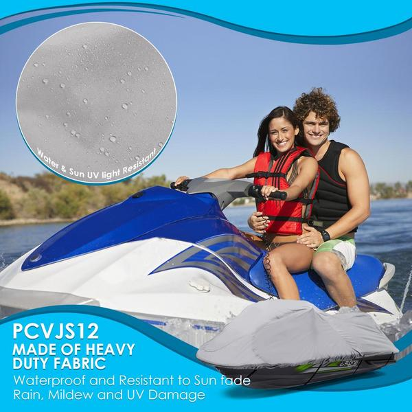 Pyle PCVJS12 Universal Armor Shield Marine Jetski Storage Cover Single Thumbnail 6