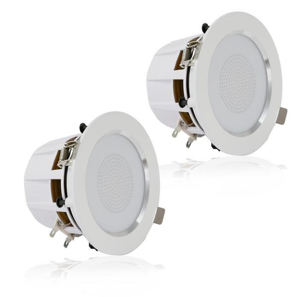 "Pyle PDIC35 3.5"" Inch 2-Way 140 Watts Aluminum Ceiling In Wall Speakers Single Thumbnail 6"