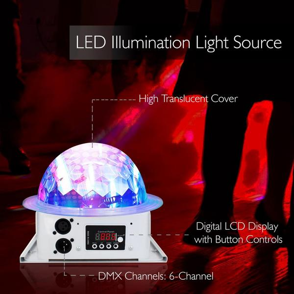 Pyle PDJLT10 Multicolor LED DJ Stage Light Sound Studio Single Thumbnail 4