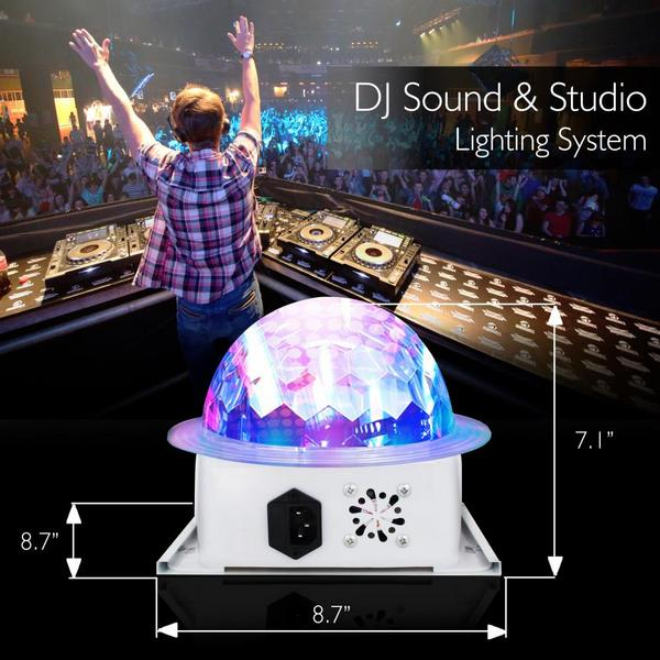 Pyle PDJLT10 Multicolor LED DJ Stage Light Sound Studio Single Thumbnail 5