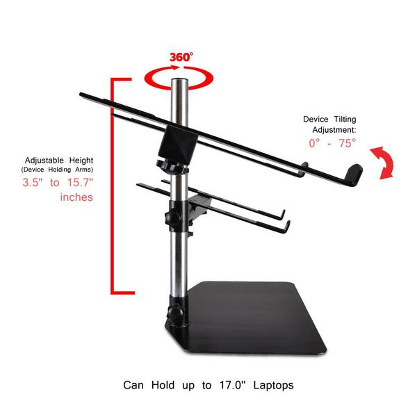 PylePro PLPTS45 Laptop Mixer Studio Equipment Stand Holder Single Thumbnail 5