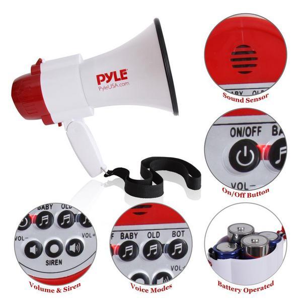 Pyle PMP39VC 30 Watt Megaphone Indoor Outdoor PA Bull horn Built-in Siren Single Thumbnail 3