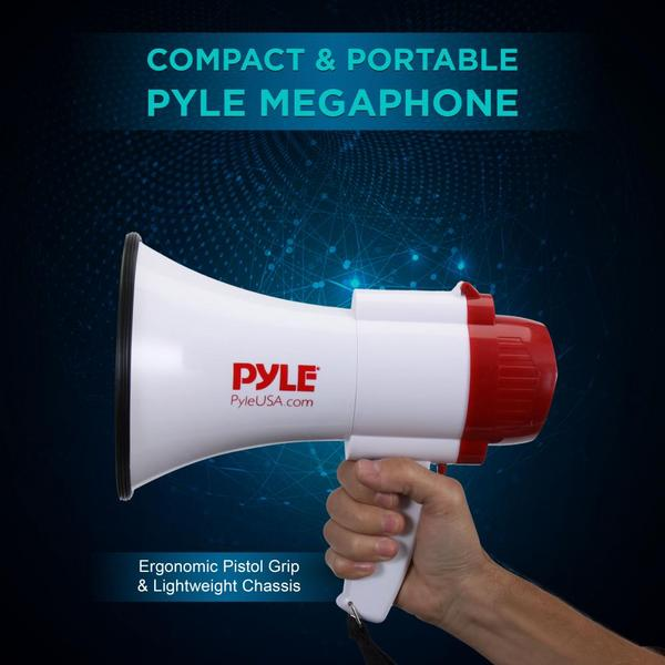 Pyle PMP39VC 30 Watt Megaphone Indoor Outdoor PA Bull horn Built-in Siren Single Thumbnail 4