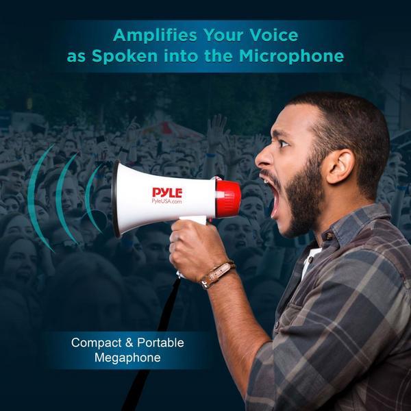 Pyle PMP39VC 30 Watt Megaphone Indoor Outdoor PA Bull horn Built-in Siren Single Thumbnail 5