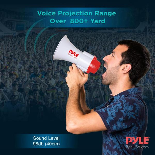 Pyle PMP39VC 30 Watt Megaphone Indoor Outdoor PA Bull horn Built-in Siren Single Thumbnail 6