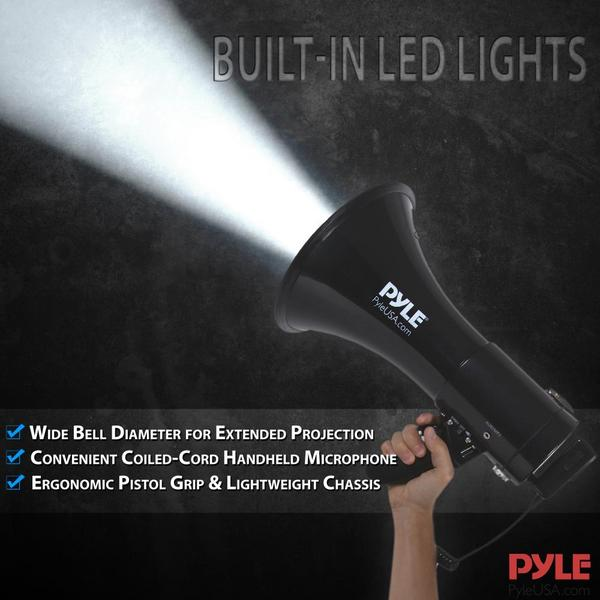 Pyle PMP561LTB 50 Watt Megaphone Indoor Outdoor Built in Rechargeable PA Single Thumbnail 6