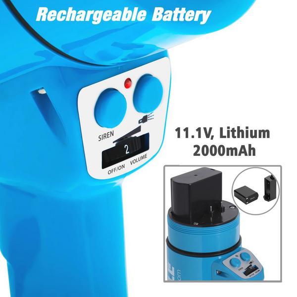 Pyle PMP67WLTB 40 Watt Water Resistant Indoor Outdoor PA Megaphone Single Thumbnail 3