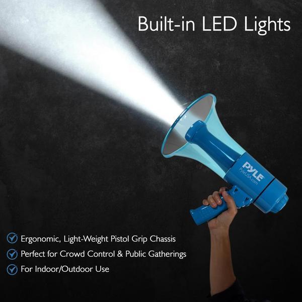 Pyle PMP67WLTB 40 Watt Water Resistant Indoor Outdoor PA Megaphone Single Thumbnail 4