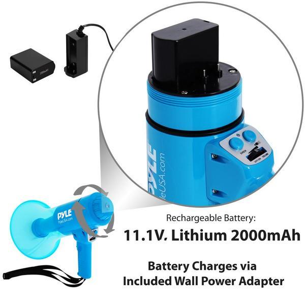 Pyle PMP67WLTB 40 Watt Water Resistant Indoor Outdoor PA Megaphone Single Thumbnail 6