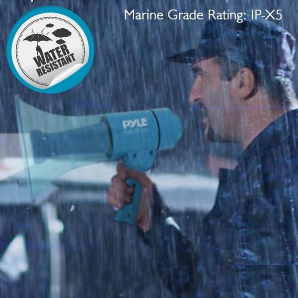 Pyle PMP67WLTB 40 Watt Water Resistant Indoor Outdoor PA Megaphone Single Thumbnail 7