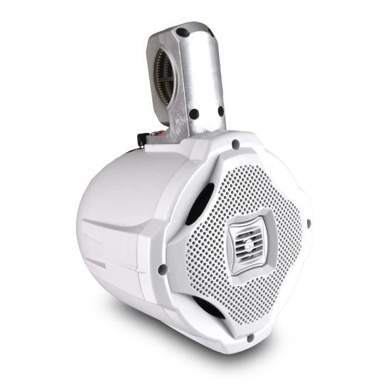 "Lanzar WaterProof Monster 500w Marine White Boat Wakeboard Tower Speaker 6.5"""