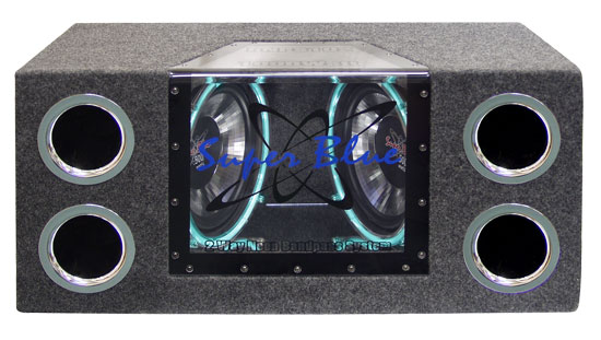 "Pyramid BNPS102 Neon Dual 10"" Bandpass Car Subwoofer Sub Bass Box System"