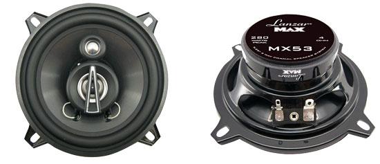 "Lanzar MAX 5.25"" 13cm 130mm 140w Coaxial Three Way Pair Car Door Shelf Speakers"