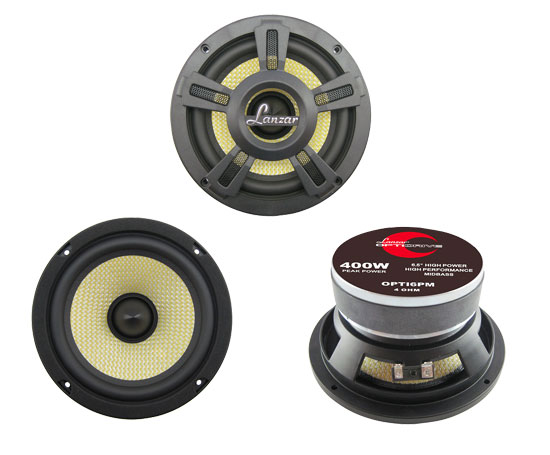 "Lanzar Opti 6.5"" 800w Mid Bass Drivers Car Speaker Subwoofer Sub Woofer (Single)"