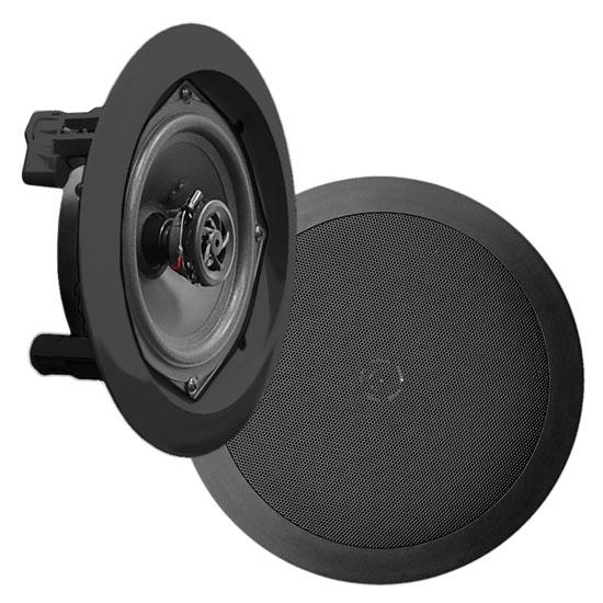 "Pyle Home PDIC61RDBK 6.5"" 2-Way In-Ceiling In-Wall Speaker System Black"