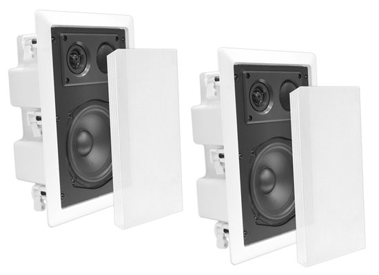 """Pyle-Home PDIW87 Pyle 8"""" Back Enclosed Inwall Speakers"""