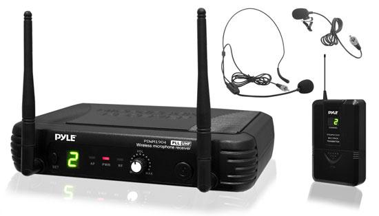 PylePro PDWM1904 Premier Series Professional UHF Wireless Body-Pack Transmitter Microphone System