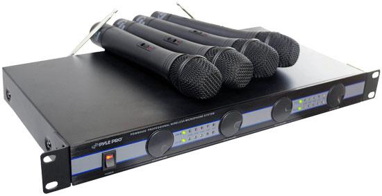 PYLE-PRO PDWM5000 - 4 Mic VHF Wireless Microphone System