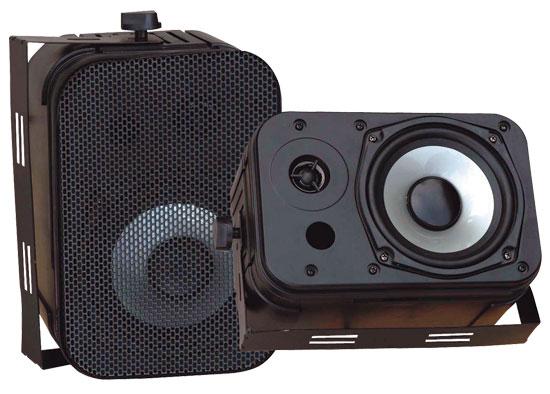 Pyle PDWR40B Indoor Outdoor Waterproof Bookshelf Wall Mount Hi-Fi Patio Speakers