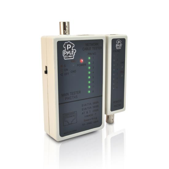 Pyle PHCT45 Network Cable Tester | Checks RJ45 RJ11 BNC Network Cables