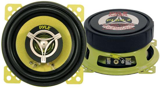 "Pyle Gear 4"" 10cm 100mm 280w Coaxial Two Way Pair Car Door Dash Shelf Speakers"