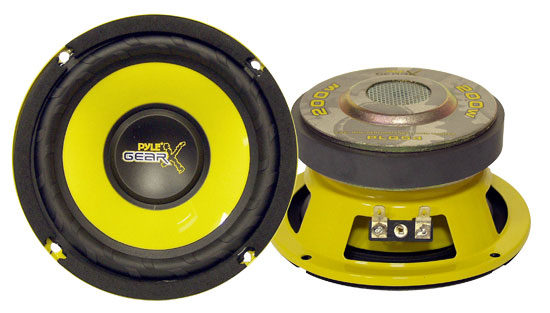 "Pyle Gear 5"" 13cm 130mm 200w Mid Bass Driver Car Door Shelf Sub Speaker (x1)"