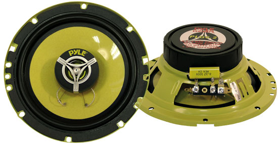 "Pair Of Pyle Gear 6.5"" 16cm 165mm 480w Car Door Shelf Two Way Coaxial Speakers"