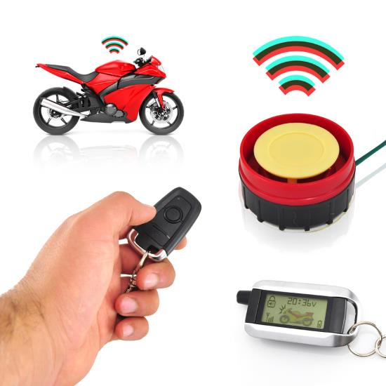 Pyle PLMCWD75 Motorcycle Motobike Scooter 12v Vehicle Alarm Security System