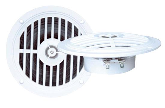 """Pair Of 5.25"""" WaterProof Ceiling In Wall Hi Fi Speakers Bathroom Boat Lounge"""