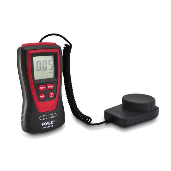 Pyle PLMT12 Lux Light Meter Photometer with 20000 Lux Range Digital Display