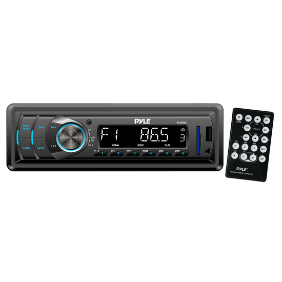 Pyle PLR34M In-Dash AM/FM-MPX Receiver With MP3 Playback & USB/SD/Aux Inputs
