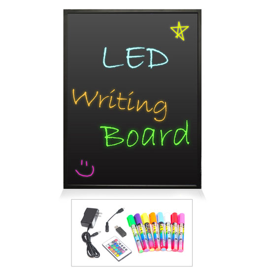 Pyle PLWB6080 32 x 24 Erasable Illuminated LED Writing Board w/Remote & 8 Markers
