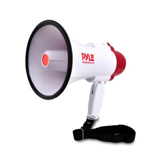 Pyle Pro Megaphone & Strap Mega Phone 30w Pistol Grip Loud Speaker And Siren NEW
