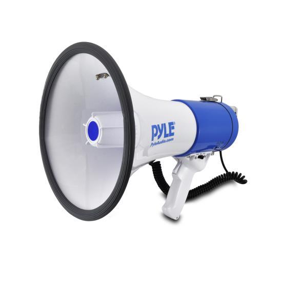 Pyle Pro Megaphone & Strap Mega Phone 50w Pistol Grip Loud Speaker And Siren NEW