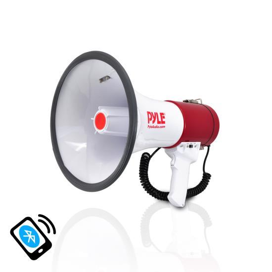 Pyle PMP52BT Bluetooth Megaphone Bullhorn AUX (3.5mm) Input Built-in USB Flash