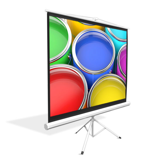 """PRJTP84 84"""" Standing Portable Fold-Out RollUp Tripod Manual Projector Screen"""