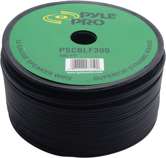 Pyle PSCBLF300 300Ft 12 AWG Spool Roll Of Speaker Cable Wire With Rubber Jacket