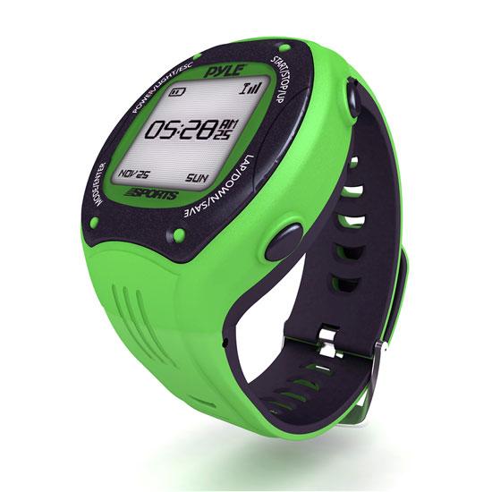 Pyle PSGP410GN Digital GPS Navigation Sports Training Watch ANT & E-compass