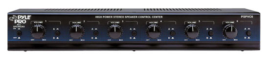 PyleHome PSPVC6 6 Channel High Power Stereo Speaker Selector with Volume Control