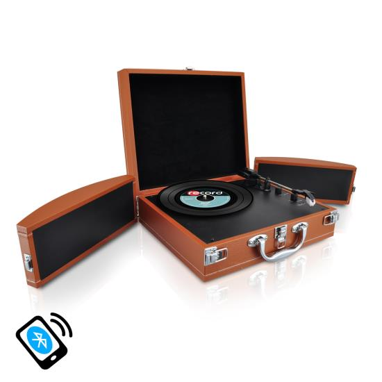 PYLE-HOME PVTTBT8BR TURNTABLE- SUITCASE B.T,  PC ENCODING