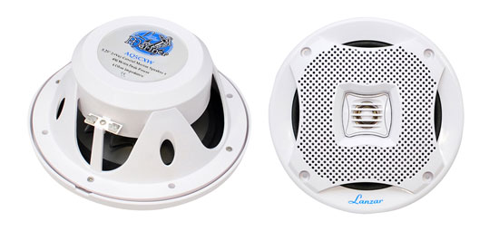 "Lanzar WaterProof Outdoor Boat Patio Marine 5.25"" In Wall Cabin Deck Speakers"