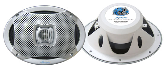 Lanzar AQ69CXS 500 Watts 6''X9'' 2-Way Marine Speakers (Silver Color)
