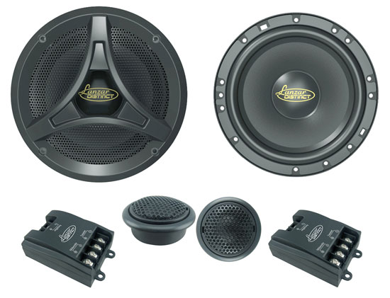 Lanzar DCT6KT Distinct 6.5-Inch 17cm 600w Car Door Speakers Component System Kit