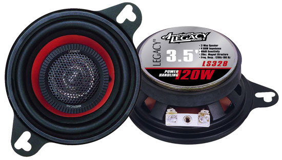 "Legacy 3.5"" 8cm 80mm 240w Coaxial Two Way Car Door Dash Speakers Mk2 Golf Etc"