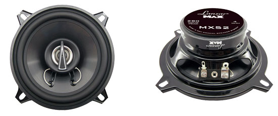 "Lanzar MAX 5.25"" 13cm 130mm 140w Coaxial Two Way Pair Car Door Shelf Speakers"