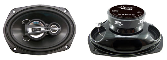 "Lanzar MX 3 Way 6x9"" Oval Car Audio Door Shelf Speakers Complete Pair 1200w"